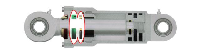 Hydraulic cylinder seal buffer