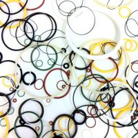 A selection of o'ring seal sizes and colours