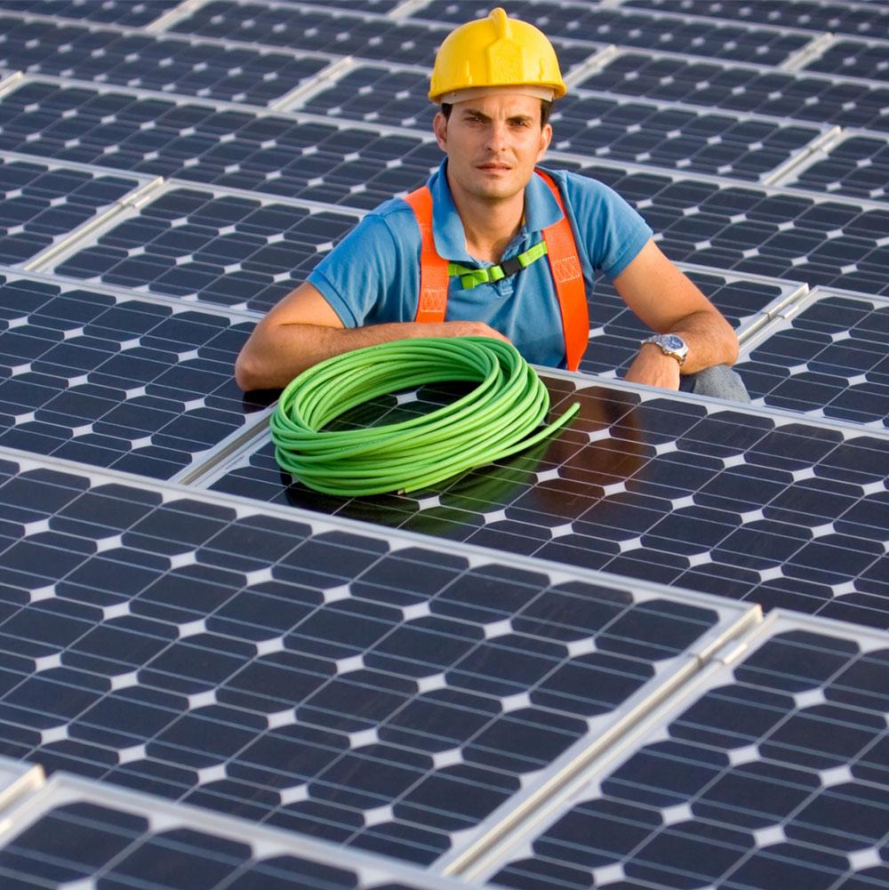 Solar panel installation for power generation