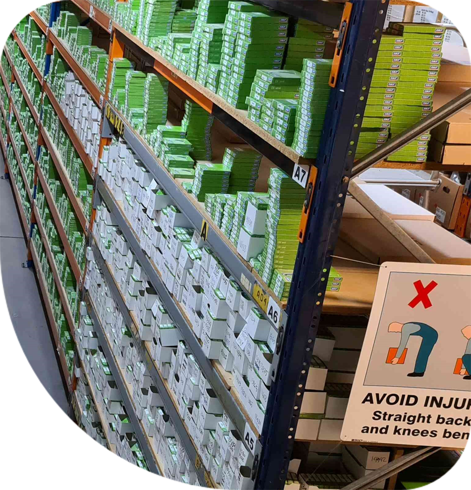 The Sealing Australia warehouse with most items ready for immediate shipping